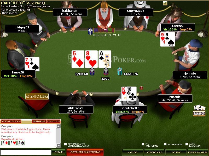 Mesa de Mansion Poker