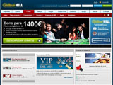 Pagina de inicio de William Hill Poker